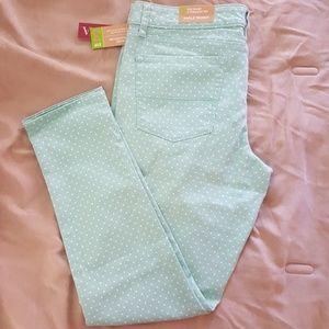 Mint Green Polka Dot Pants
